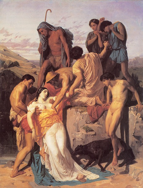 1-1850-Prix de Rome-Bouguereau-Zenobia_Found_by_Shepherds_on_the_Banks_of_the_Araxes