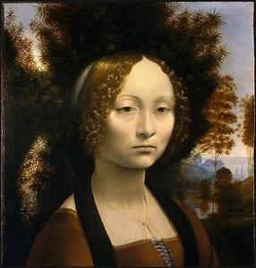 ジネヴラ・デ・ベンチの肖像 1476-1478 ナショナル・ギャラリー・オブ・アート(ワシントン)所蔵