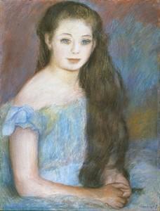 ピエール・オーギュスト・ルノワール 少女1887年 石橋財団ブリヂストン美術館蔵