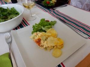 P6251760  gratin de saumon sur l'assiette